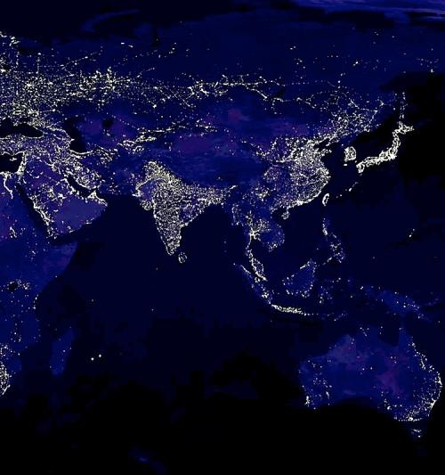 Nighttime Night-time Map Earth
