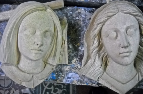 """Paloy Cagayat"" ""Wood Carver"" Paete Laguna Female Heads"