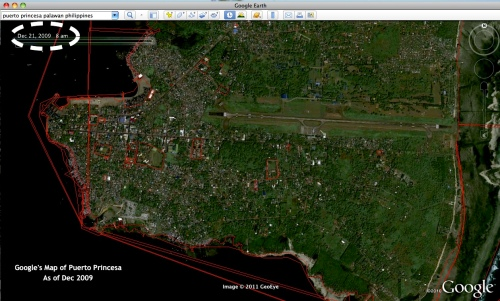 """Google map"" ""Puerto Princesa City"" 2009"