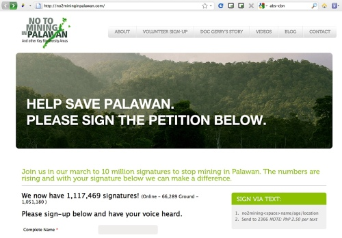 "Website ""Help Save Palawan"" ""ABS-CBN Foundation"""