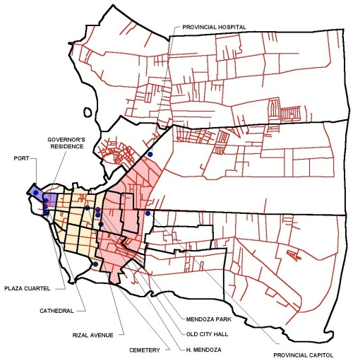 "History Historical Map ""Puerto Princesa"""