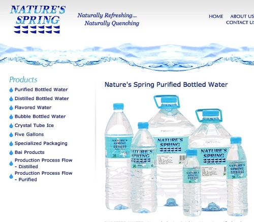 """bottled water"" ""Nature's Spring"""