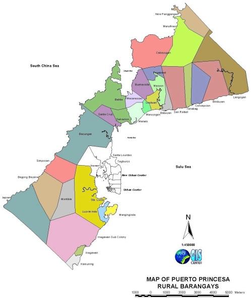 "PPC ""Puerto Princesa"" Rural Barangay Map Palawan"