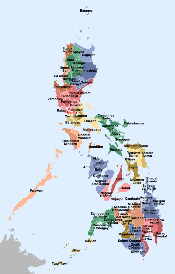 provincial map of the philippines