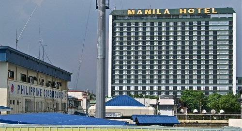 "Headquarters ""Philippine Coast Guard"" ""Manila Hotel"""