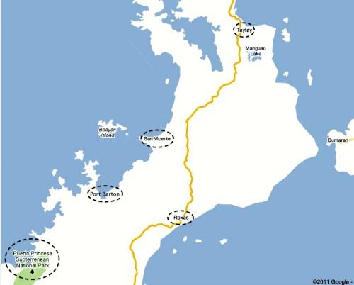 Underground River - Roxas - Pt Barton - San Vicente - Taytay