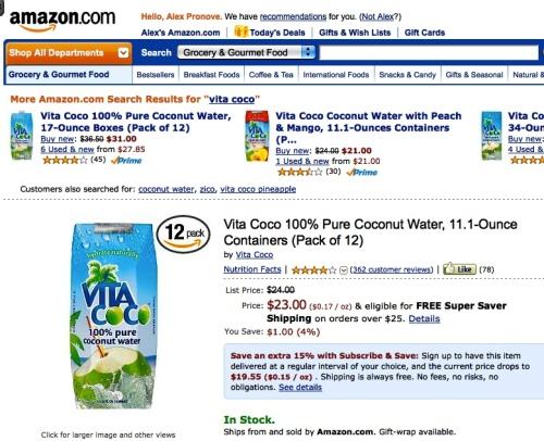 """""""Vita Coco"""" Amazon"""