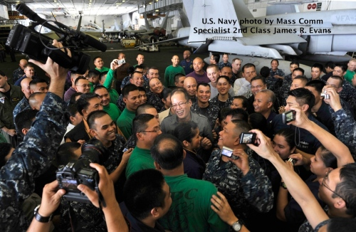 """Retired No Way"" Aquino ""USS Carl Vinson"" ""aircraft carrier"""