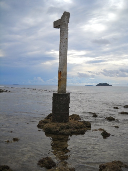 """Bisucay Island"" ""Balading"" ""Low Tide"" ""Retired No Way"" Marker"
