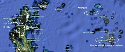 """""""Google Earth"""" """"Cuyo Archipelago"""" """"Retired No Way"""""""