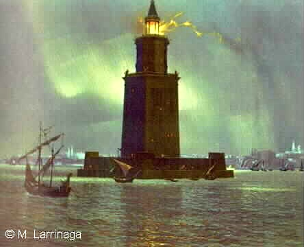 "Pharos ""7 Wonders"" ""Retired No Way"" Lighthouse"
