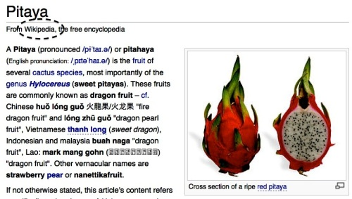 """Retired No Way"" ""Dragon Fruit"" Pitaya Wikipedia"