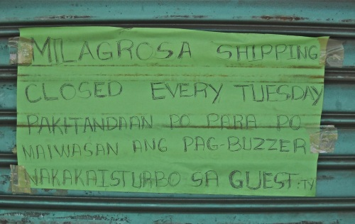 """Puerto Princesa office"" ""Shipping Line"" Milagrosa-J ""Retired No Way"""