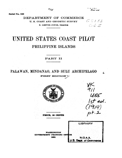"""1921 CSC-0056, 50 cents only!"" retirednoway ""This is the second volume of the four-volume survey contained in the U.S. Coastal Pilot."""