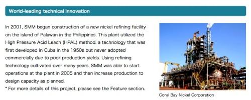"""Coral Bay Nickel Corp."" ""Sumitomo Metal Mining"" Japanese ""Retired No Way"""