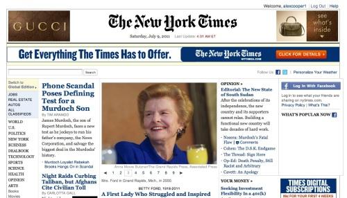 """My favorite online media source: NYT website"" retirednoway"