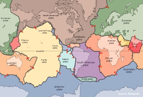 """Tectonic Plates of the world"" retirednoway"