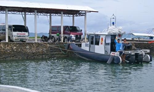 """A rigid inflatable boat of the Maritime Unit of the Philippine National Police."" retirednoway"