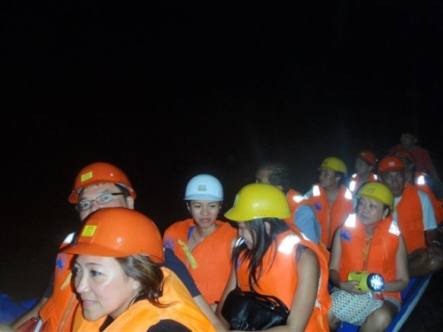 """Travelers exploring the cave system of Underground River"" retirednoway"