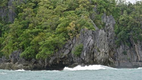 """Large cliff halfway between Sabang and the cave"" retirednoway"