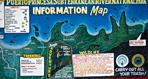 """Information Map of Underground River"" retirednoway"