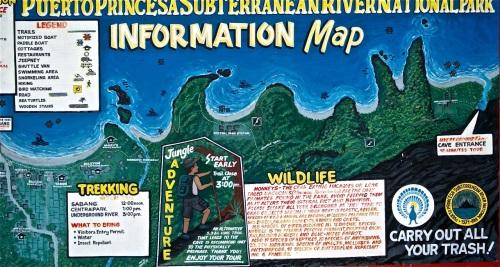 """""""Information Map of Underground River"""" retirednoway"""