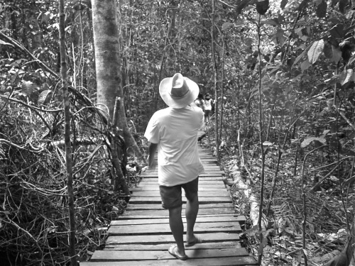 """Walking the planks at Palawan's Underground River Park"" retirednoway"