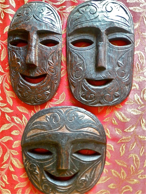 """Smiling masks from Palawan"" retirednoway"