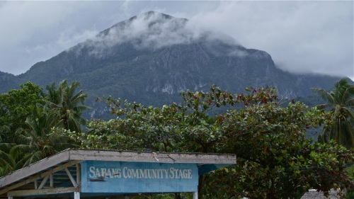 """""""Towering over Sabang's wharf is Mount St. Paul inside which the Underground River passes through"""" retirednoway"""