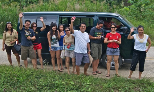 """""""Typical shuttle van with Tour Guide (extreme left) and travelers"""" retirednoway"""