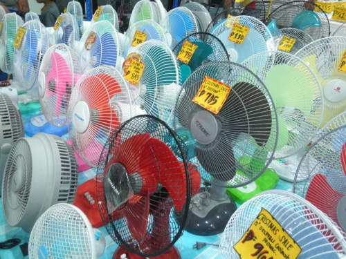 """Electric fans, a necessity in this tropical climate"" retirednoway"