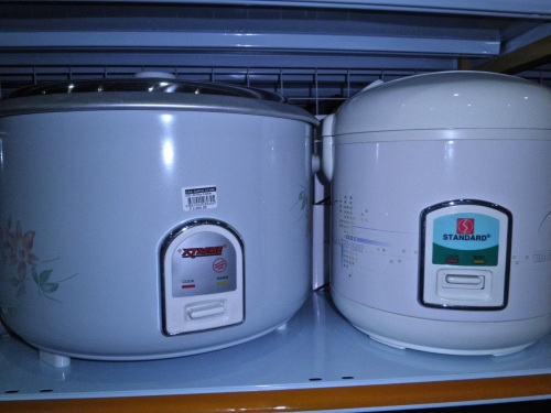 """Rice cookers for cooking the Filipino's favorite starch"" retirednoway"