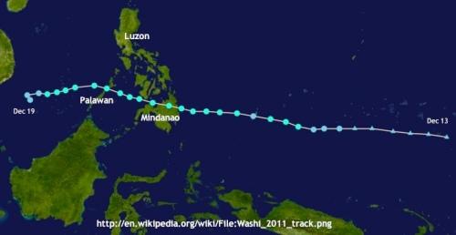 """Typhoon Sendong's track"" retirednoway"