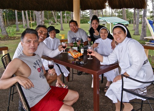 """Toasting the new year at Crystal Paradise Resort in Narra, Palawan"" retirednoway"