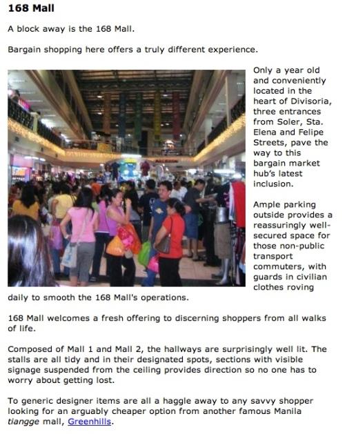 """""""Descripion of 168 in Divisoria (source: http://www.philippines-travel-guide.com/divisoria-mall.html)"""" retirednoway"""