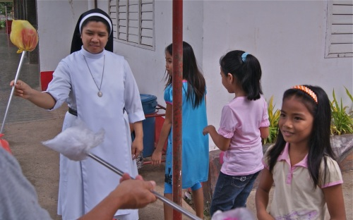 """Sister Felma twirling the baton"" retirednoway"