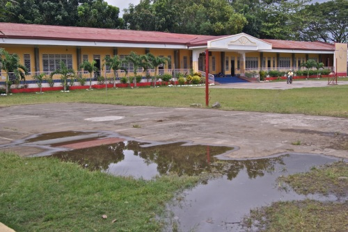 "retirednoway""The school quadrangle has a tendency to collect standing water."""