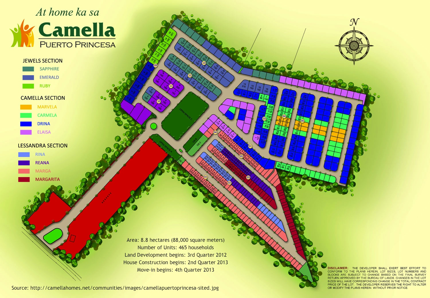 Site development plan of the camella homes subdivision for Camella homes design with floor plan