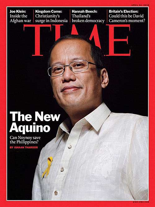 """President ""Noynoy"" Aquino on Time magazine's cover"" retirednoway"