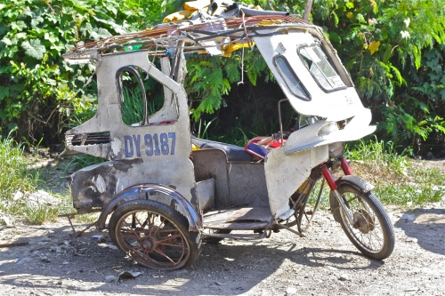 """This tricycle was just a few meters from the explosion. It belonged to one of the two persons injured."" retirednoway"