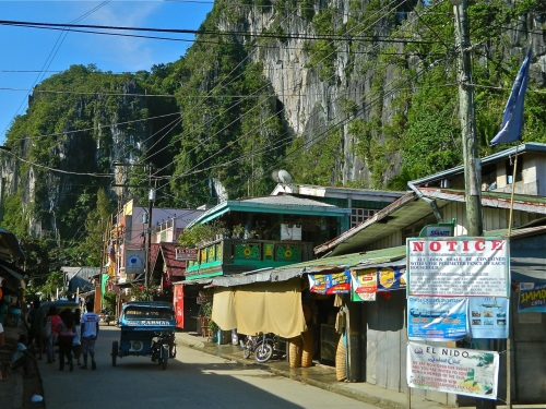 """The heart of the town of El Nido is surrounded by spectacular karst limestone cliffs."" retirednoway"
