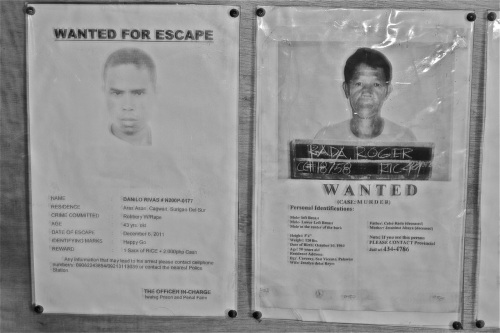 """The one on the right is wanted for murder whereas the one on the right merely escaped. ""Wanted for Escape?"" retirednoway"