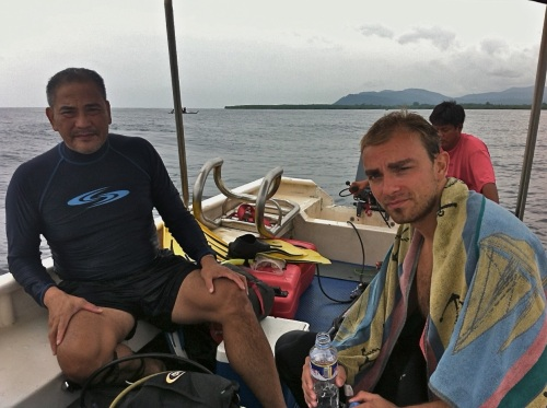 """""""Alex and Nicolas. """"Nico"""" is an aeronautical engineer from Paris. He has experienced American life previously (when he was sent to a GE aircraft plant in Cincinnati, Ohio)."""" retirednoway"""