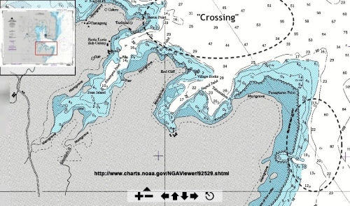 """Nautical Chart of the southern coast below the mouth of Puerto Princesa Bay."" retirednoway"