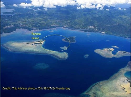 """retirednoway """"We hunted in the encircled area adjacent to Pandan Island. Depths ranged from 5 to 20 meters."""""""