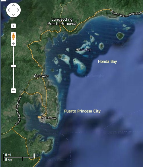 "retirednoway, ""Map of Honda Bay and Puerto Princesa"""