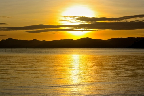 "retirednoway, ""Sunset over Tablas Island as seen from Tiamban Beach, Romblon Island"""