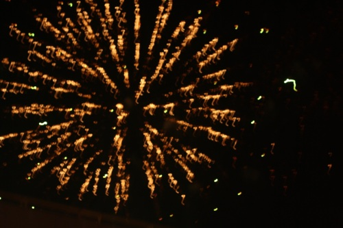Fireworks (Skyrocket Explosion Types) at Southvale, New Year 2015, no.  - 01