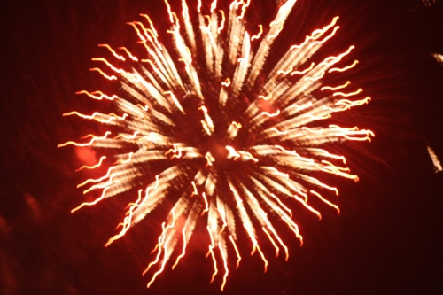 Fireworks (Skyrocket Explosion Types) at Southvale, New Year 2015, no.  - 03