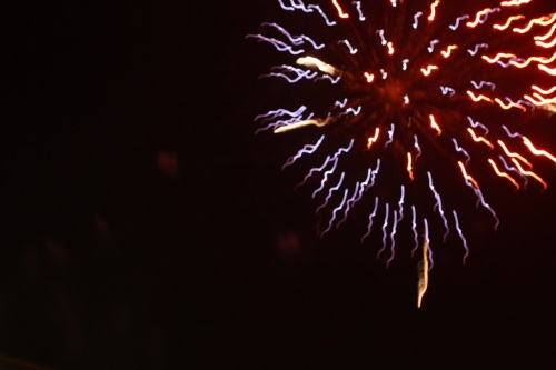 Fireworks (Skyrocket Explosion Types) at Southvale, New Year 2015, no.  - 04